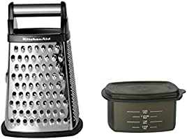 [US Deal] Save on KitchenAid Gourmet Stainless Steel Box Grater, Black. Discount applied in price displayed.
