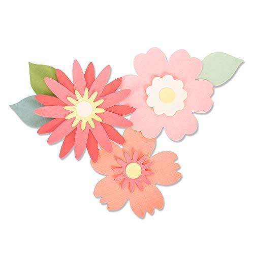 Sizzix Troquel Bigz 663849, Flores poderosas de Laura Kate, Multicolor, Talla única