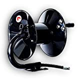 REELWORKS Air-Hose-Reel Retractable Hand Crank Reel 3/8' Inch x 50' Feet 300 PSI / 20 BAR Heavy Duty Steel Construction Locking Spring Max Working Pressure (Hose Not Included)