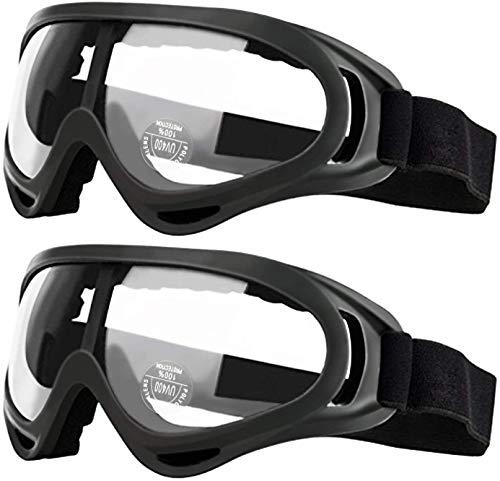 安全ゴーグル 保護メガネ 子供用 アイウェアメガネ 花粉用メガネ 耐風性 耐衝撃性 花粉症预防 2PACK
