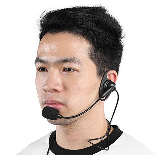 FECAMOS Auriculares Walkie Talkie con intercomunicador con Cable, Auriculares estéreo con Conector de 3,5 mm, para intercomunicador de Motocicleta V6 V4 e intercomunicador Bluetooth