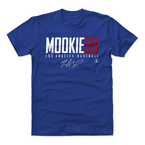 500 LEVEL Mookie Betts Shirt (Cotton, X-Large, Royal Blue) - Los Angeles Men's Apparel - Mookie Betts Los Angeles D Elite WHT
