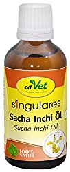 cdVet Naturprodukte Singulares Sacha Inchi Öl 50 ml - Hund, Katze - Futterergänzung - Hohe Verdaulichkeit - reich an Vitamin A+E - Omega 3-, Omega 6-, Omega 9 Fettsäuren - 100% Natur -