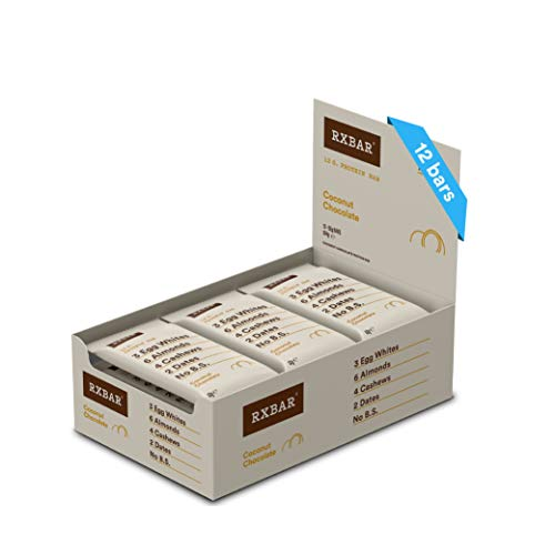 RXBAR, Protein Bar, Coconut Chocolate, Gluten Free, 12-Pack, Made in the UK