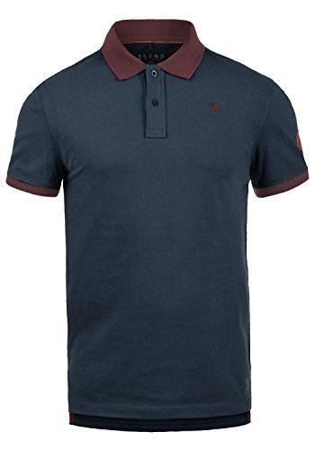 Blend Ralf Herren Poloshirt Polohemd T-Shirt Shirt Mit Polokragen Aus 100% Baumwolle, Größe:M, Farbe:Dark Navy Blue (74645)