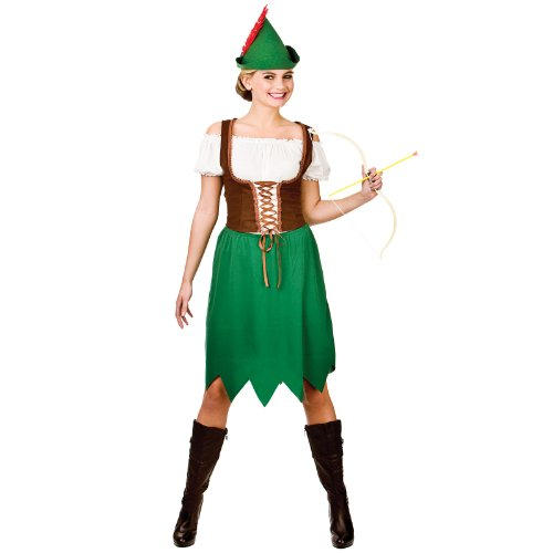 Dames Robin Hood Vrouw Film Halloween Fancy Dress Up Party Kostuum Outfit Nieuwe