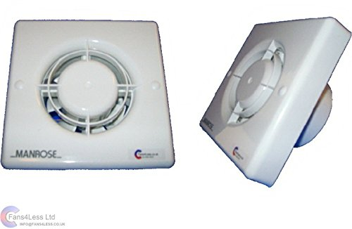 Manrose XF100LV 12V Low Voltage Extractor Fan - 100mm/4' - Suitable for Wall or...