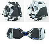 FBSPORT Silicone Case for T1 SWAGTRON Electric Self Balancing Scooter Full-Body Scratch Protector Cover Skin for T1 Hover Board (Scooter not Included) (T1_White Black)