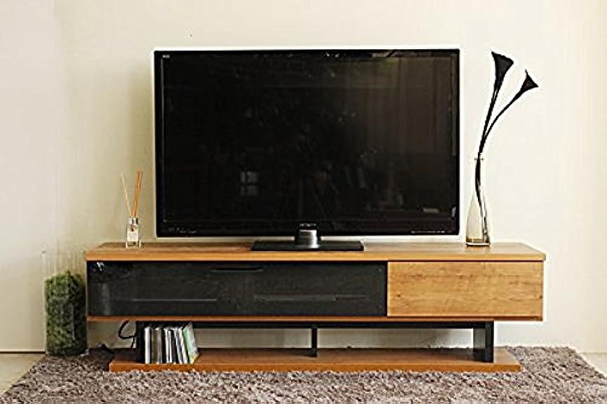曲げる曲げる基本的なモダン 幅160cm ロータイプテレビボード ナチュラル 完成品