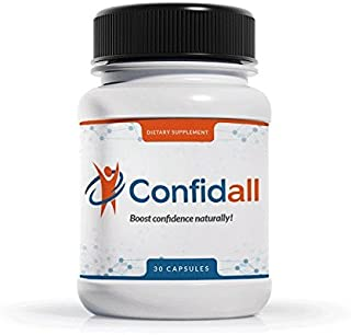 CONFIDALL - Confidence Boosting Anti Anxiety Anti Depressant Positive Mood Enhancer 5HTP GABA Nootropic Video Game Supplement Reduce Stress Increase Focus Gamer edge Be Calm Relax 30 Capsules New