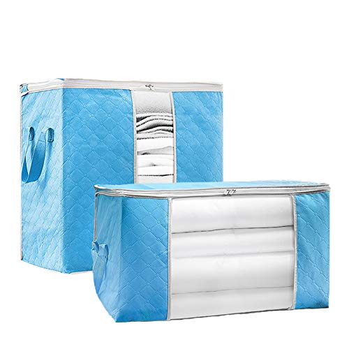 FYFDP Storage Bags Quilt Blanket Boxes Clothing Storage Bag Breathable Moistureproof Removable Durable Stackable Multifunction Wardrobebox(3pcs)