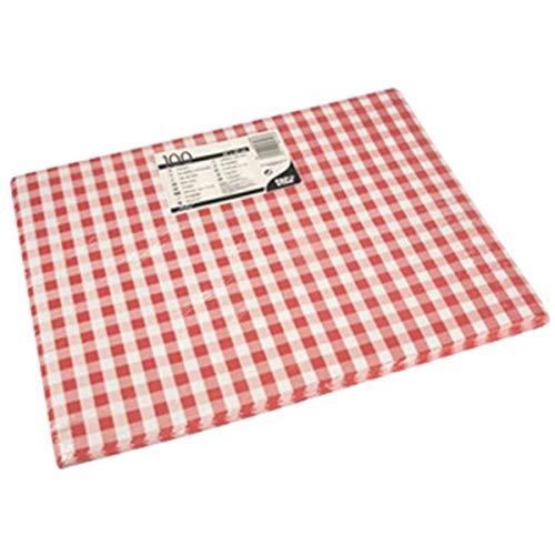 Tischsets, Papier 30 cm x 40 cm rot