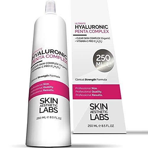 250 ml Hyaluronsäure Serum Konzentrat TESTSIEGER 2021* • 5-fach Hyaluron • Klinik-Größe • Anti Aging Gel mit Vitamin C Pro • Clear Skin Complex • Hypoallergen •...