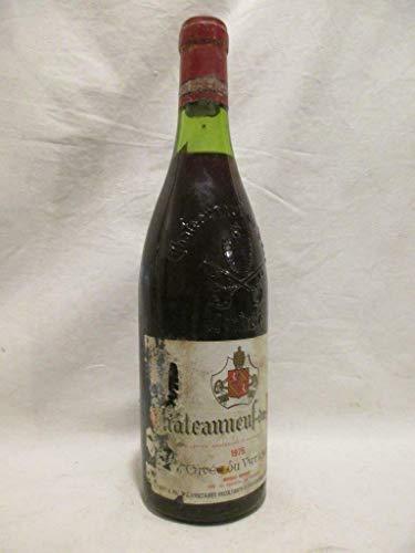châteauneuf du pape cuvée du vatican (étiquette abîmée) rouge 1975 - rhône