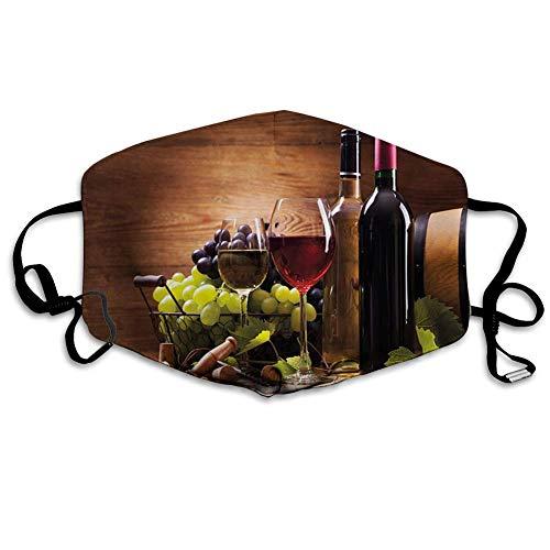 smile-life Gläser Rot- und Weißwein, serviert mit Trauben Französische Gourmet-Verkostung, winddichte Gesichtsdekorationen