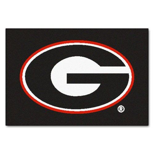 georgia bulldog bathroom mat - 1