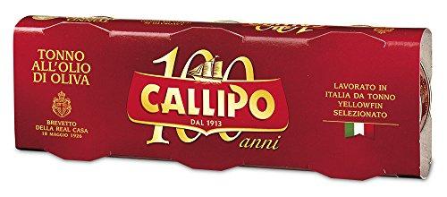 Giacinto Callipo Callipo Tonno all'Olio di Oliva, Scatola - 4 confezioni da 3 pezzi da 80 g [12 pezzi, 960 g]
