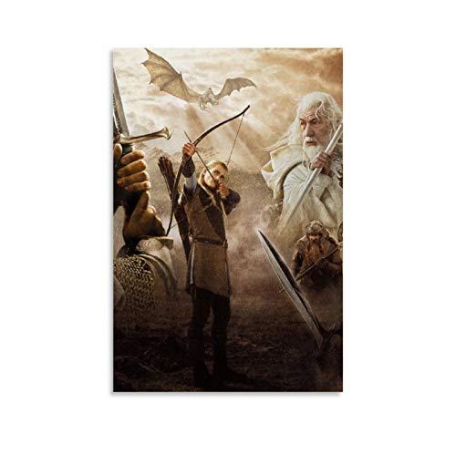 DRAGON VINES Herr der Ringe Trilogie Gandalf Aragon Legolas Kunstdruck Poster 0ffice and Home Renovation 60 x 90 cm