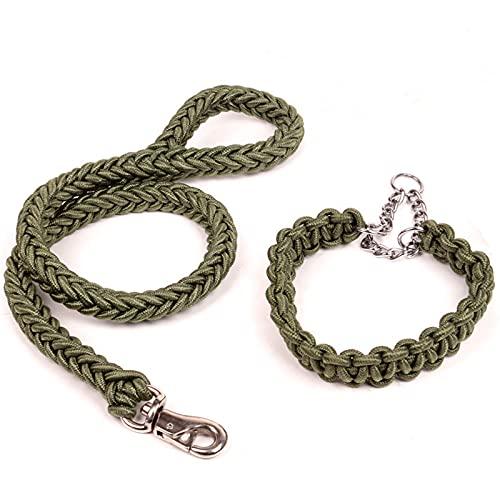 ZZCR Collar De Perro Mascota Collar De Múltiples Tamaños Collar Lavable De Nailon Collar De Perro Grande Tejido De Ocho Hilos Correa De Perro Rojo M