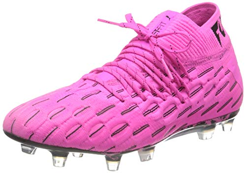 PUMA Unisex Erwachsene Future 6.1 Netfit FG/AG Fußballschuh, Rosa (Luminous Pink-Puma Black), 48.5 EU