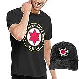 sunminey Homme T- T-Shirt Polos et Chemises Men's Cotton T Shirt + Baseball Hat - U.S. Army 6th Infantry Division Veteran