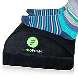 ErgoFoam Adjustable Desk Foot Rest for Added Height | Orthopedic Teardrop Design |