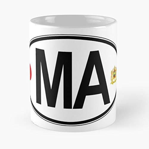 Amnautical Car Maroc Country Code Morocco Best 11 oz Kaffeebecher - Nespresso Tassen Kaffee Motive