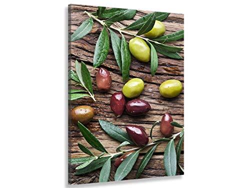 HXA DECO - Tableau Deco, Tableau Moderne, Tableau Deco Cuisine Olives et saveur de Provence - 50x80 cm