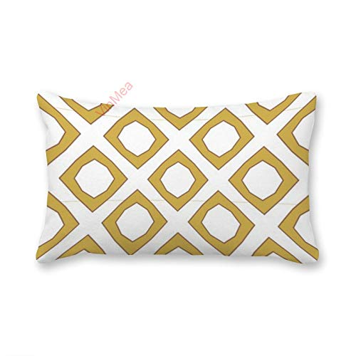 VinMea Decorative Lumbar Pillow Covers Modern Yellow Geometric Seamless Pattern Throw Pillow Covers 12x20 Inch For Sofa Couch Chair Seat Decoration