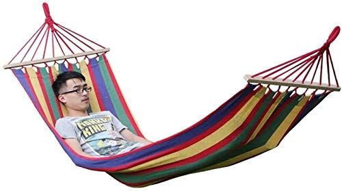Plztou Outdoor Hammock Double Hammock Outdoor Recliner Portable Hammock Courtyard Hammock American Style Widened Thick Canvas Hammock Load 150kg