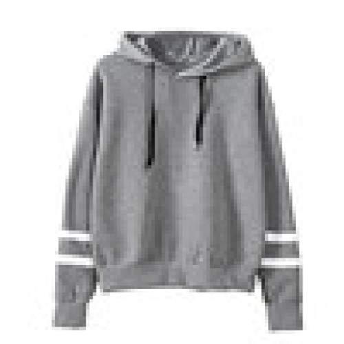 Damen Bekleidung, Pullover Sweatshirt, Dress Sweatshirts & Kapuzenpullover für Damen, Grau, S, Womens Long Sleeve Hoodie Sweatshirt Jumper Hooded Pullover Tops Blouse GY