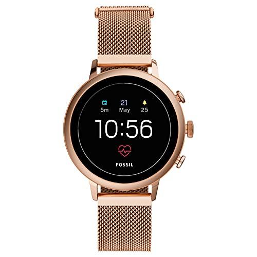 Fossil FTW6031P Reloj Inteligente Oro Rosa - Relojes Inteligentes (Pantalla táctil, WiFi, Oro Rosa)