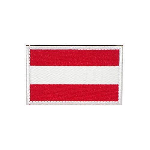 Cobra Tactical Solutions Österreich Flagge Austria Besticktes Patch mit Klettverschluss für Airsoft Cosplay Paintball für Taktische Kleidung Rucksack
