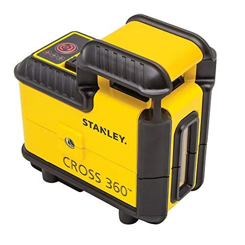 Stanley STHT77504-1 Laser 360° Sur 20m de Diamètre - Diodes Classe 2 - mise à Niveau Automatique - Précision +/-4mm - Nivellement +/-4° - Revêtement Renforcé IP50 - Triple Filetage 1/4' + Accessoires