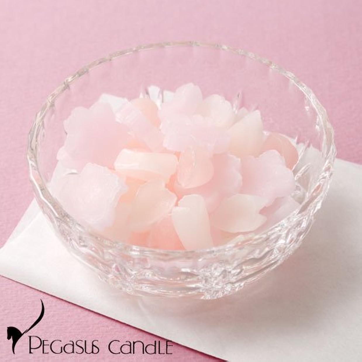ビバ奨励します茎さくらのかおりガラス器付きの桜の芳香剤ペガサスキャンドルSakura fragrance