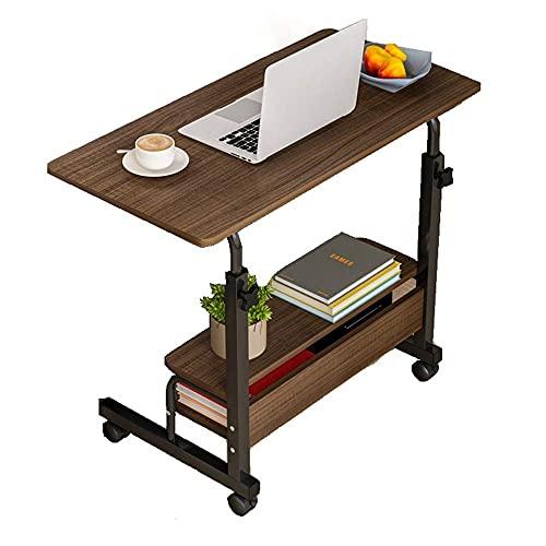 ZHANGYY Escritorio para computadora portátil móvil Mesa Lateral móvil Mesa para computadora portátil móvil Estante para computadora portátil Ajustable para Oficina en casa (Color: Blanco,