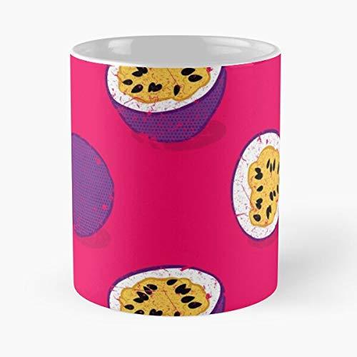 Tropics Fruit Food Flora Plant Pattern Exotic Tree Eat Food Bite John Best 11 Ounce Ceramic Coffee Mug