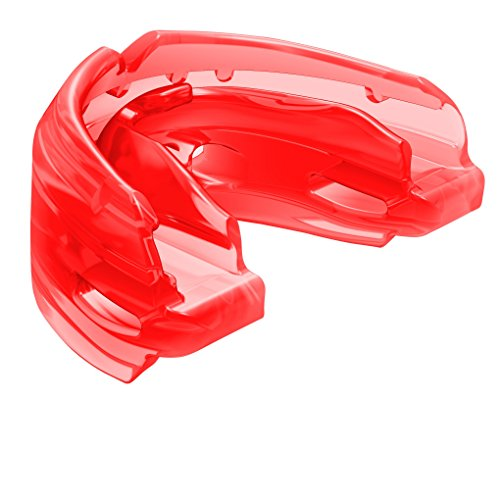 Shock Doctor Double Braces Mouth Guard  Upper and Lower Teeth Protection  Mouthguard No Boil/Instant Fit  for Youth, Teenager, Kids and Adults. Mouth Piece OSFA. Tether Strap Included