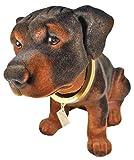 Wackelkopf Hund Rottweiler 28 x 13 x 18 cm, 415 Gramm Hund Gartenzwerg Wackeltier PVC Deko GRS 0092a