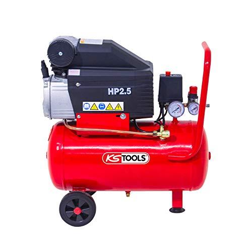 KS Tools 165.0702 - Compresor sobre cubeta (25 L, 8 bares, 2,5 CV)