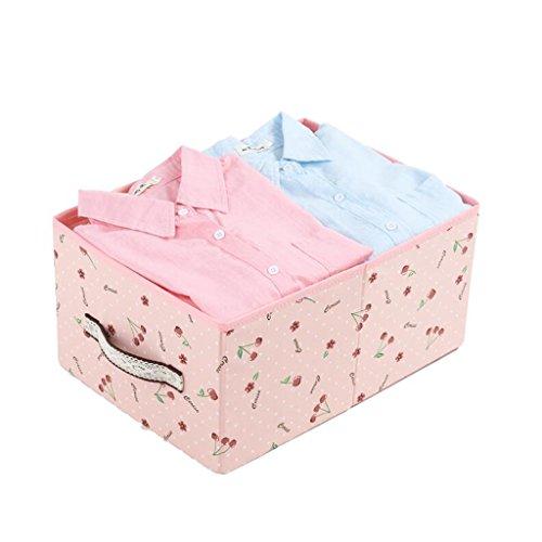 Xuan - Worth Another Rose Cerise modèle Suspendu Sac tiroir boîte sans Couvercle boîte de Rangement 24l vêtements Finition boîte Pliante boîte de Rangement (Couleur : 4pcs)
