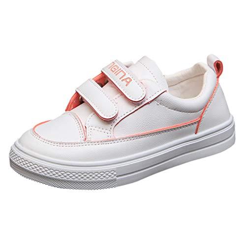 HDUFGJ Kinder Freizeitschuhe Flache Schuhe rutschfest Sportschuhe Kinderschuhe Freizeitschuhe Turnschuhe Sneakers Atmungsaktive Kinderschuhe 33.5 EU(rot)