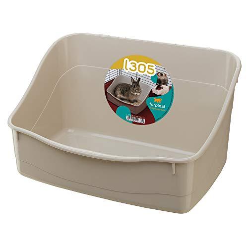Ferplast Kaninchentoilette L 305 Toilette für Nagetierkäfige Kaninchen Kleintiere, pflegeleicht hygienisch, 37 x 27 x 18,5 cm gemischte Farben