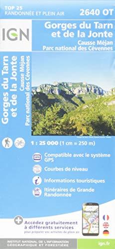 Gorges du Tarn et de la Jonte / Causse Mejan PNR (2018): 2640/OT (Top 25 & série bleue - Carte de randonnée)