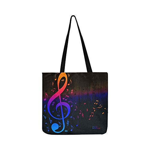 Vector Música Ecualizador Ondas Spectrum Canvas Tote Bolso Bandolera Bolsos Crossbody Monederos para hombres y mujeres Totalizador de compras