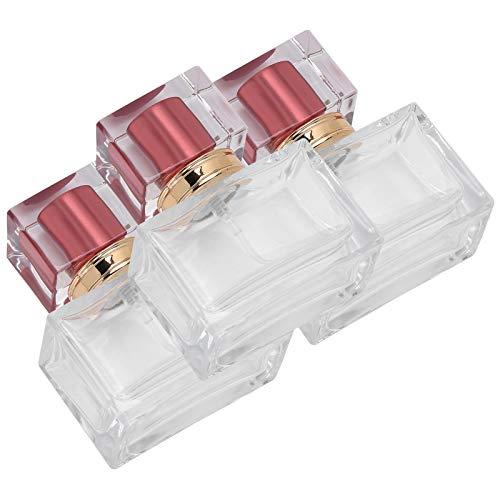 Botellas cuadradas rellenables de la botella del aceite esencial para la loción del cuidado de la piel para el perfume(red)