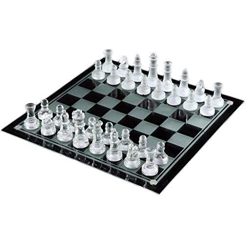 Juego de ajedrez Juego de ajedrez, Juego de ajedrez para niños y Adultos, Ajedrez Cristal Artificial Transparente + Ajedrez Mate con Tablero de Cristal Ajedrez de Cristal Juego de ajedrez de