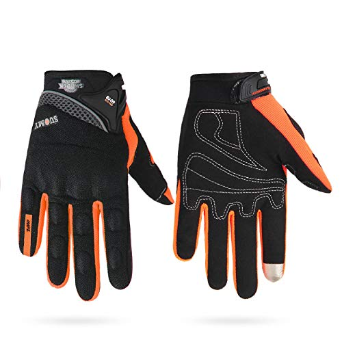 Guantes Antideslizantes Deportivos Motorcycle Gloves Men 100% Waterproof Windproof Winter Moto Gloves Touch Screen Motorbike Riding Gloves M Su-09Or-Breathable Entrega Rápida Y Gratuita