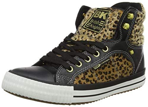 British Knights Atoll Sneaker, Leopard Black, 40 EU