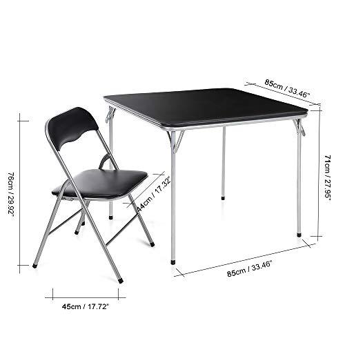 ZFLL Tafel en stoelen, inklapbaar, picknick-tafelset voor camping en eettafel, inklapbaar, voor buiten